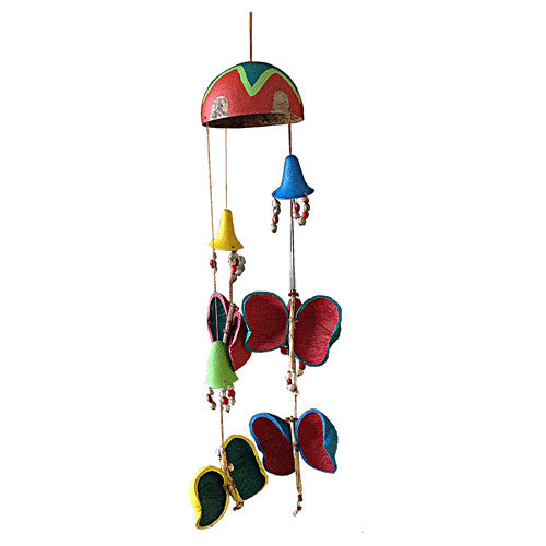 Butterfly Garden Gourd Mobile from Colombia - Green Valley Packaging