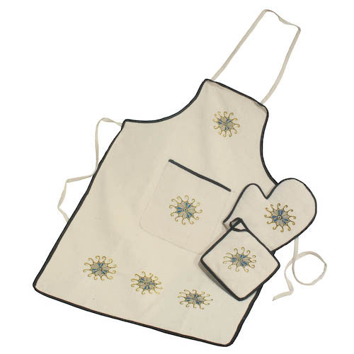 Embroidered Kitchen Set from Afghanistan - Green Valley Packaging