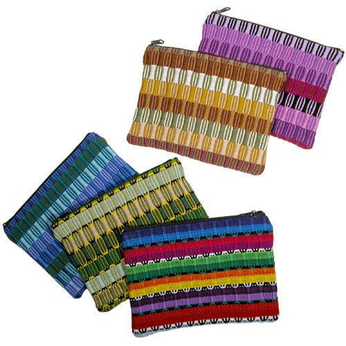 Panel Weave Coin Pouches from Guatemala - Green Valley Packaging