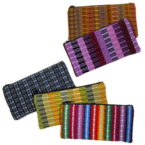 Panel Weave Pencil Bag from Guatemala - Green Valley Packaging