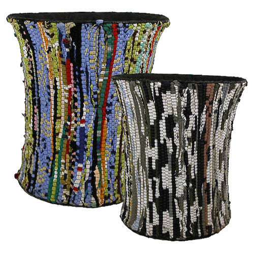 Recycled Cloth Wastebasket from India
