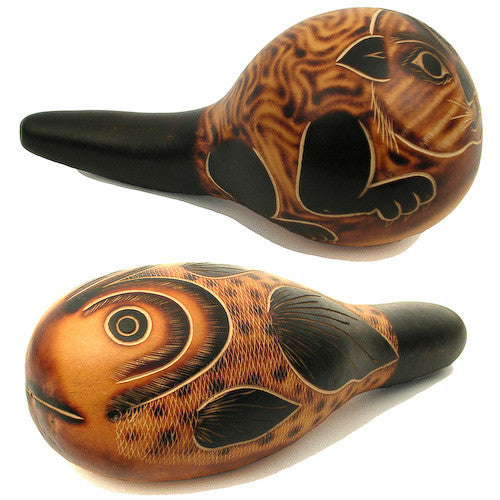 Cat/Fish Tail Decorative Gourd from Peru - Green Valley Packaging