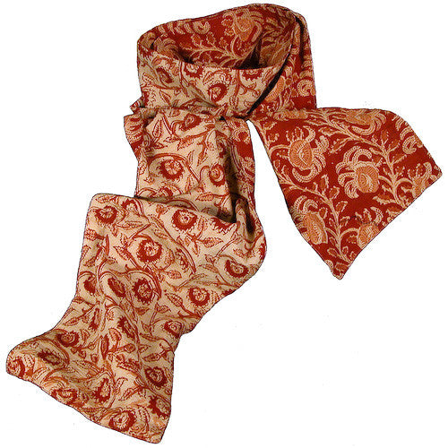 Floral Kalamkari Scarves from India - Green Valley Packaging