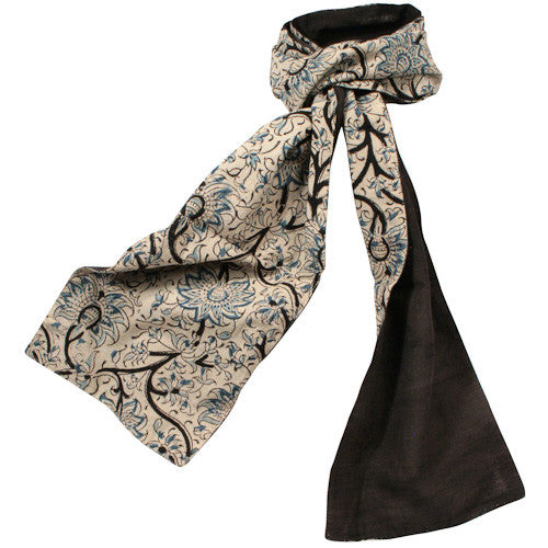 Floral & Solid Kalamkari Scarves from India - Green Valley Packaging