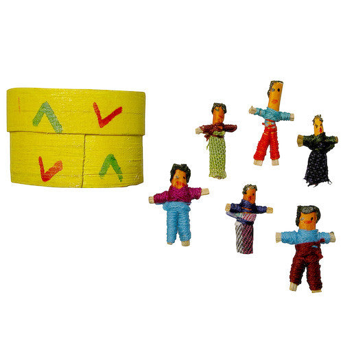 Six Worry Dolls in Box from Guatemala