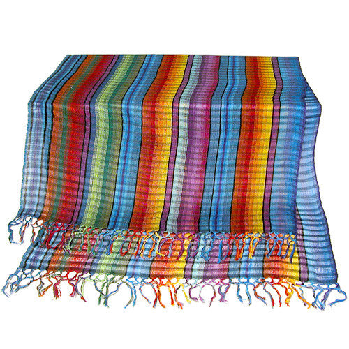 Rainbow Cotton Shawl from Guatemala