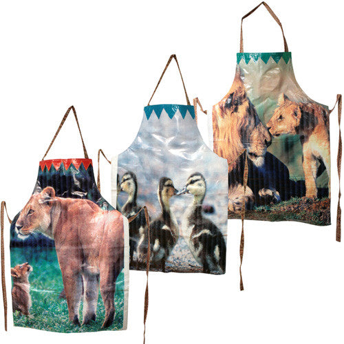 Assorted Animal Print Aprons from India - Green Valley Packaging