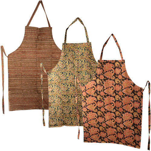 Assorted Food Print Aprons from India - Green Valley Packaging
