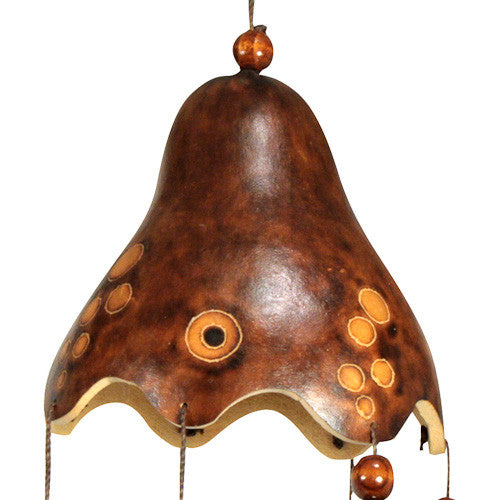 Fish Gourd Wind Chime from Peru - Green Valley Packaging