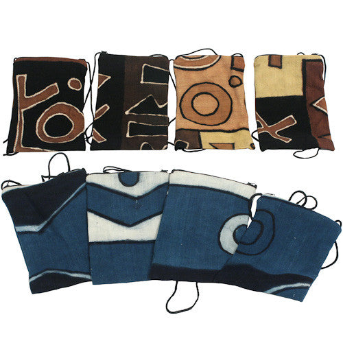 Mud Cloth Passport Bag from Mali - Green Valley Packaging