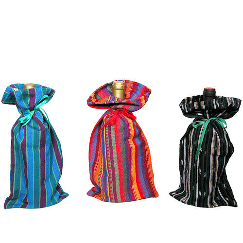 Handwoven Wine Bags from Guatemala - Green Valley Packaging