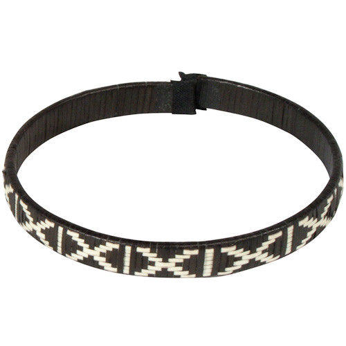 Narrow Black & White Bracelet from Colombia - Green Valley Packaging