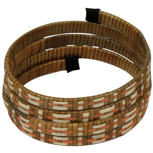 Colored Spiral Cana Flecha Bracelet from Colombia - Green Valley Packaging