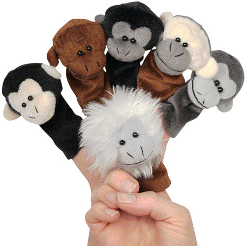 Assorted Monkey Finger Puppets from Colombia - Green Valley Packaging