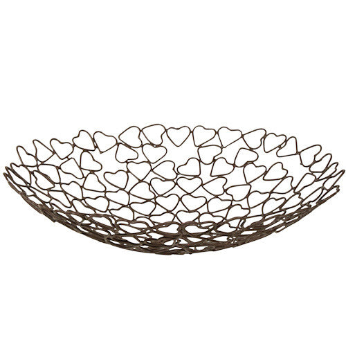 Recycled Metal Heart Bowl from India