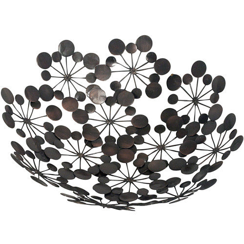 Recycled Metal Star Burst Bowl from India