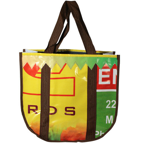 Recycled Billboard Shopping Tote from India