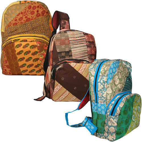 Patchwork Backpack from India