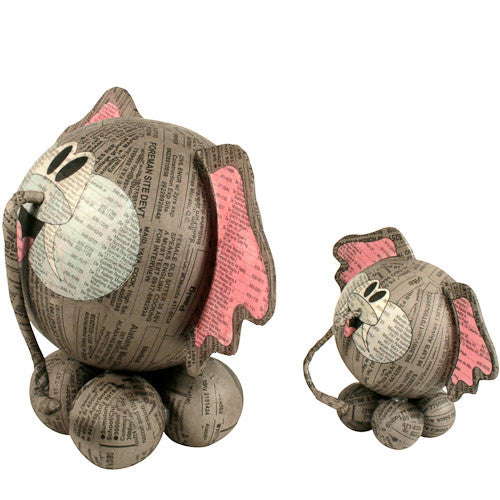 Paper Mache Elephants from the Philippines - Green Valley Packaging