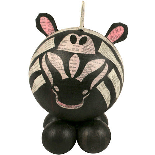 Paper Mache Zebra Bank from the Philippines