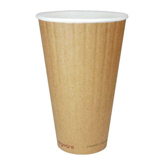 20 oz Double Wall Ripple Hot Cup - Green Valley Packaging