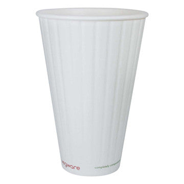 16 oz Double Wall Ripple Hot Cup - Green Valley Packaging