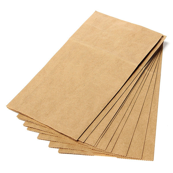 Brown Kraft Paper Bags - 10 Pack - Green Valley Packaging