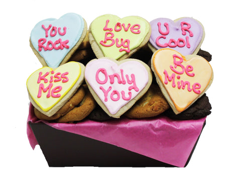 Converstion Heart Cookie Gift Basket