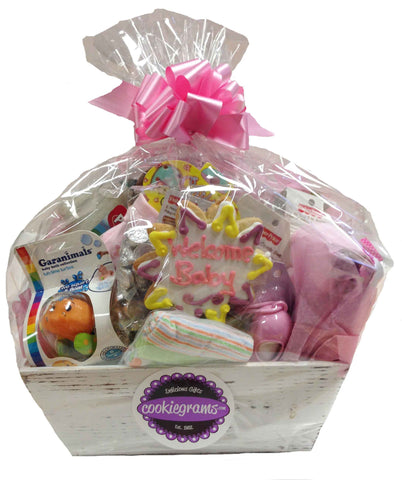 Free ups standard delivery cookiegrams usa welcome baby basket negle Images