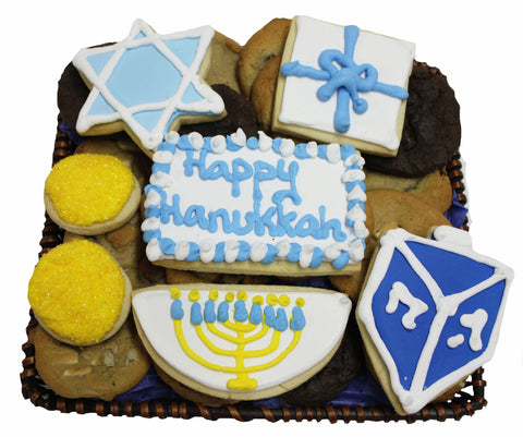 Happy Hanukkah Cookie Basket
