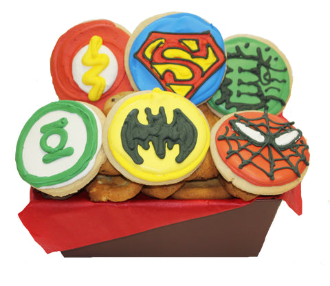 Super Hero Cookie Basket
