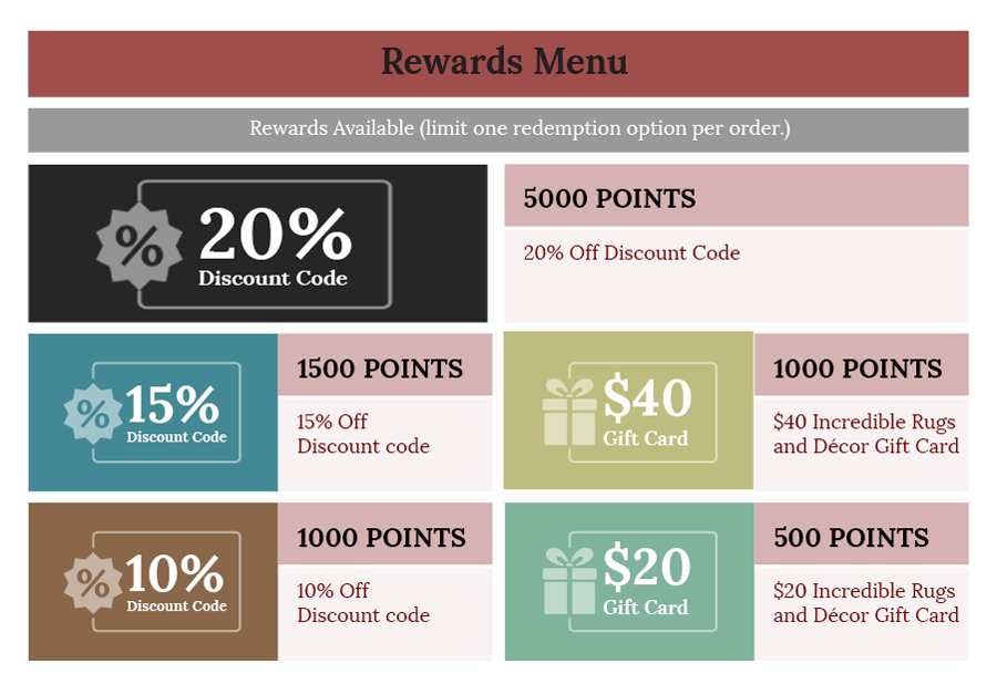 Rewards Menu 2