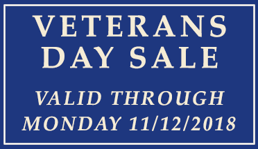 Veterans Day Rug Sale