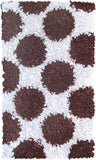 Rug Market America CO Polkamania Brown/White Area 4' 7'' X 7' 7''