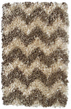 Rug Market America CO Shaggy Raggy Natural Chevrn Area 4' 7'' X 7' 7''