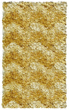 Rug Market America CO Shaggy Raggy Yellow Chevron Area 2' 7'' X 4' 7''