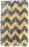 Rug Market America Kids Shaggy Raggy Yllw/Gry Chevy Yellow/Grey Area main image