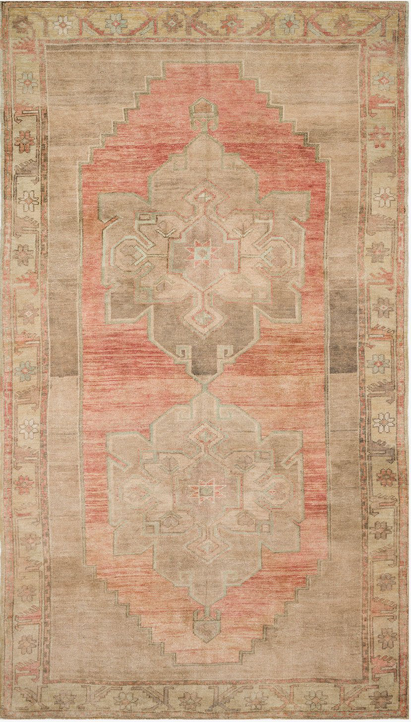 Loloi Turkish Hand Knots One of a Kind Beige/Rust Area Rug main image