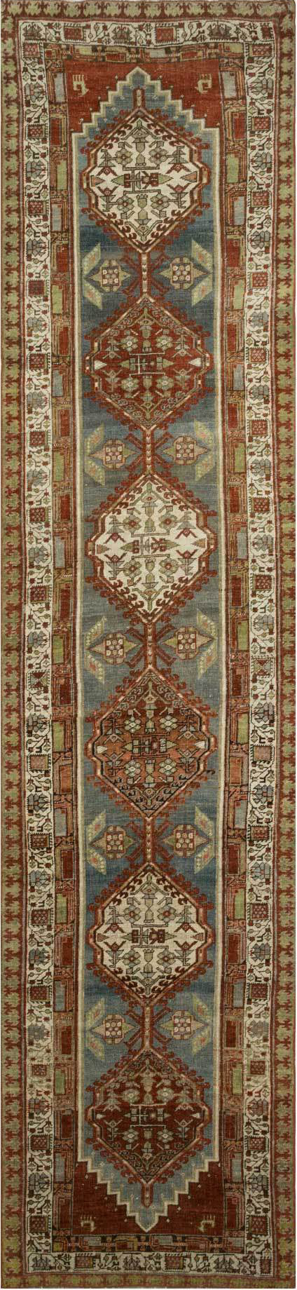 Loloi Turkish Hand Knots One of a Kind Slate/Rust Area Rug main image