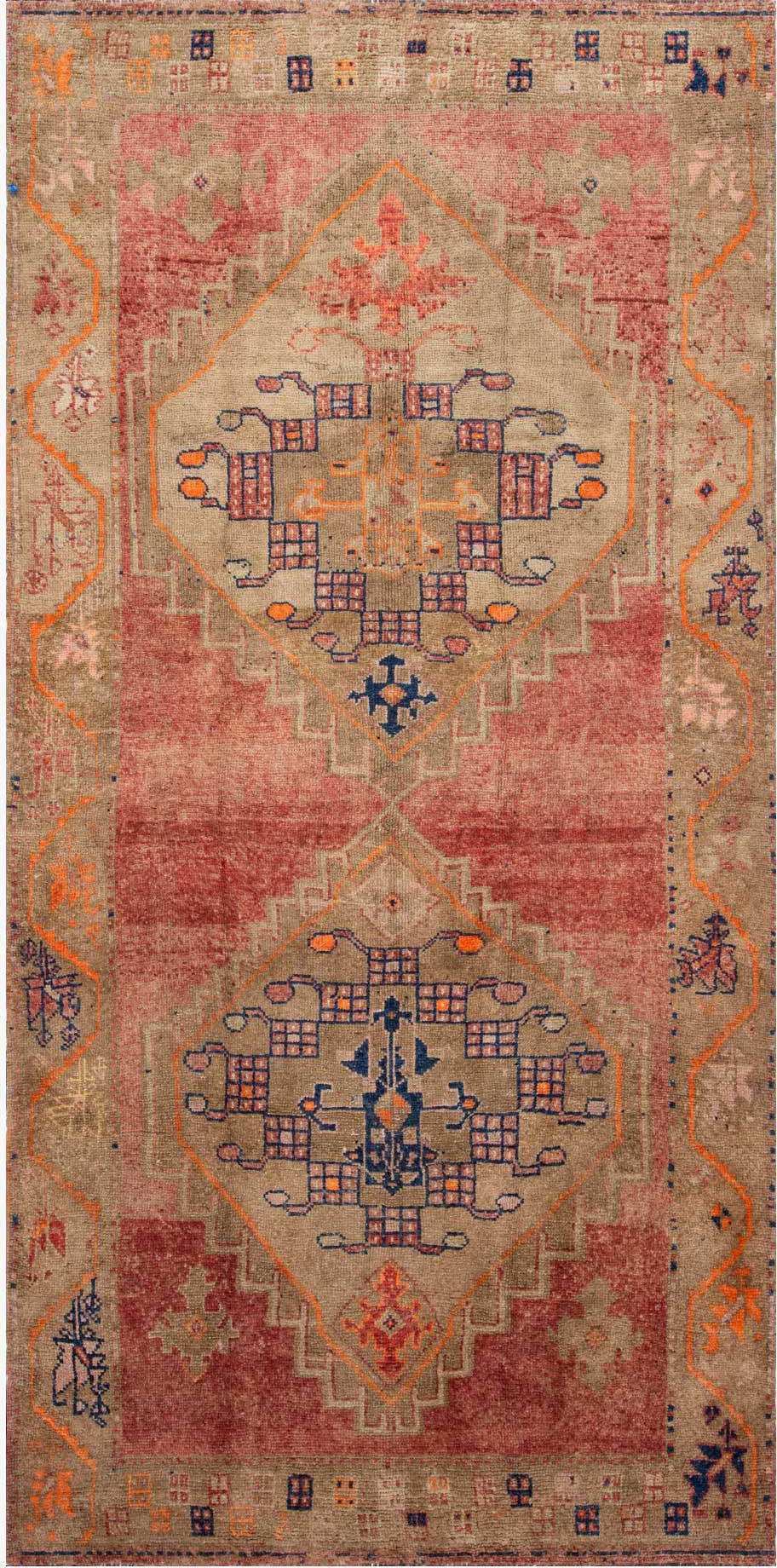 Loloi Turkish Hand Knots One of a Kind Rust/Tan Area Rug main image