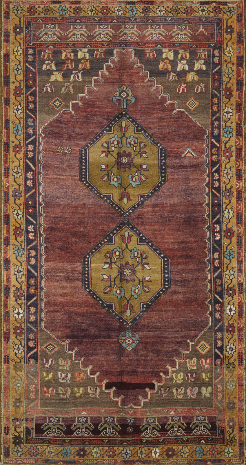 Loloi Turkish Hand Knots One of a Kind Red/Gold Area Rug main image