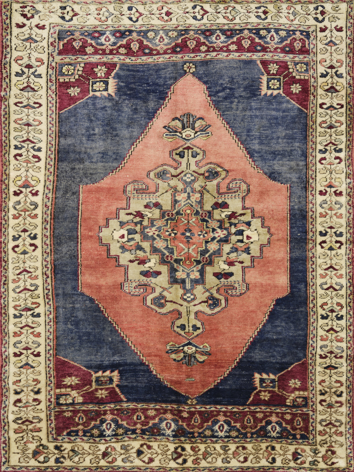 Loloi Turkish Hand Knots One of a Kind Blue/Red Area Rug main image