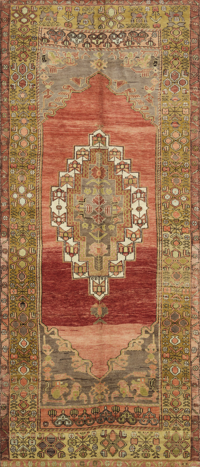 Loloi Turkish Hand Knots One of a Kind Gold/Red Area Rug main image