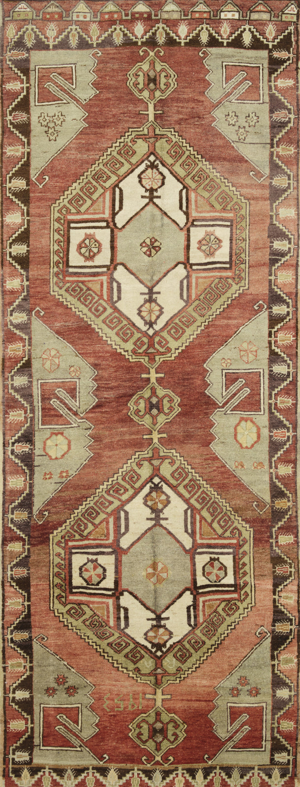 Loloi Turkish Hand Knots One of a Kind Red Area Rug main image