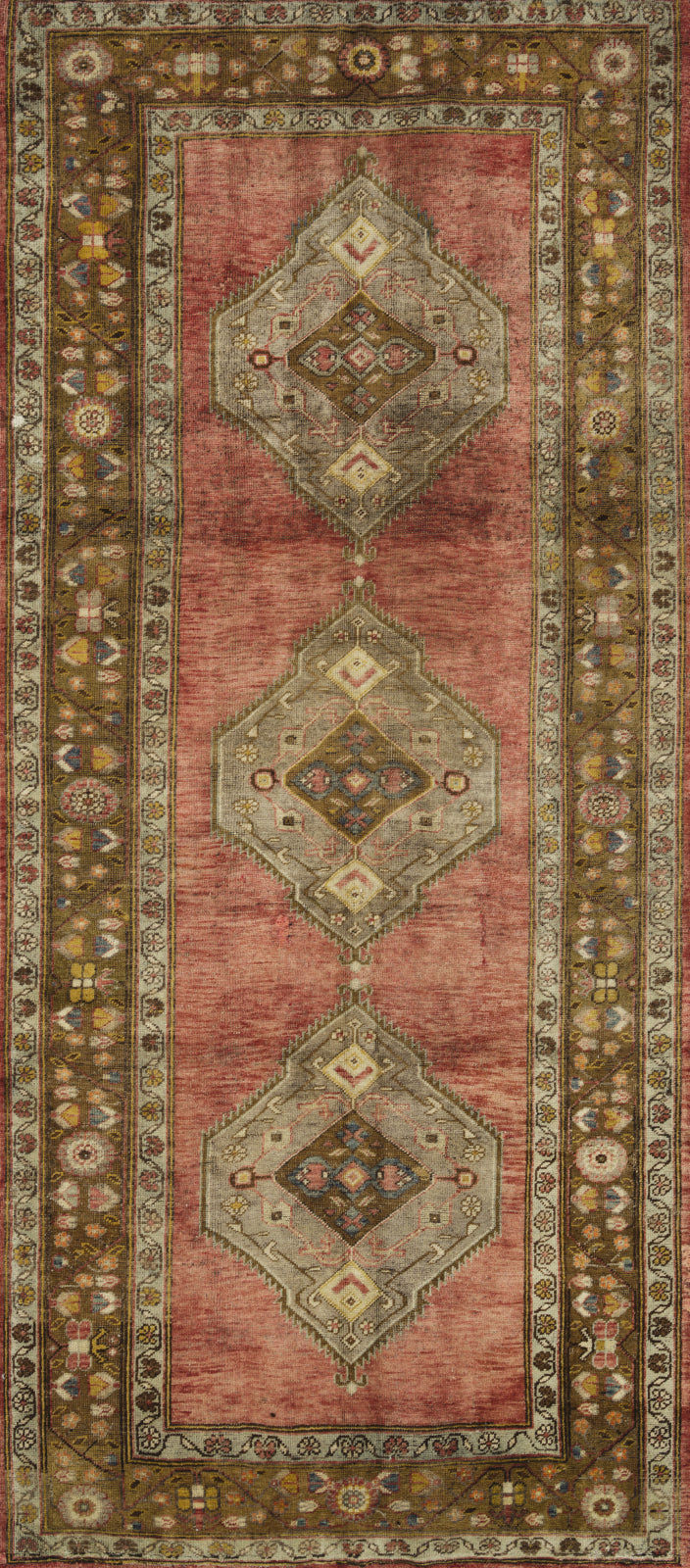 Loloi Turkish Hand Knots One of a Kind Brown/Red Area Rug main image