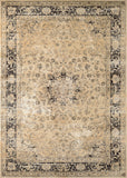 Couristan Zahara Persian Vase Oatmeal/Black Area Rug