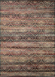 Couristan Zahara All Over Diamond Red/Black/Oatmeal Area Rug