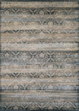 Couristan Zahara All Over Diamond Black/Light Blue/Oatmeal Area Rug