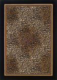 Couristan Everest Leopard Ivory/Black Area Rug