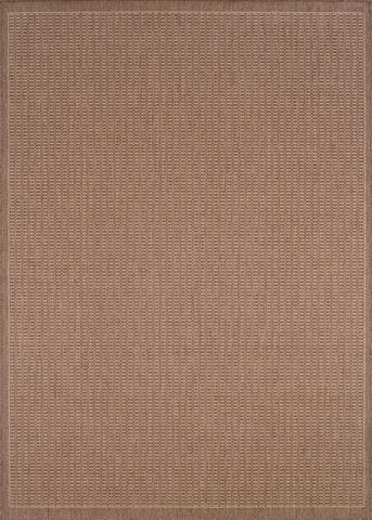 Couristan Recife Saddlestitch Cocoa/Natural Machine Loomed Area Rug